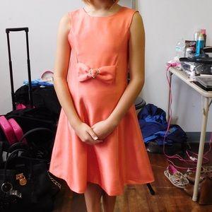 Custom coral dress size 10 girls